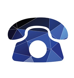 phone icon Abstract Triangle vector image vector image