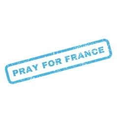 Pray for france rubber stamp vector