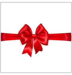 Red bow with horizontal ribbon vector