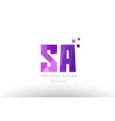 sa s a pink alphabet letter logo combination with vector image