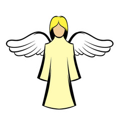 saint angel icon cartoon vector image