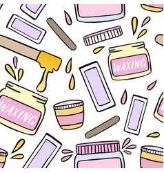 Seamless pattern with waxing and hair removal vector