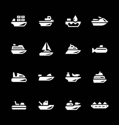 Set icons of water transport vector image vector image