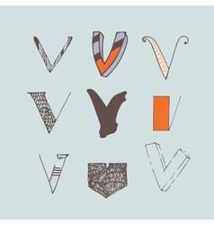 Set of colorful alphabet letters v vector