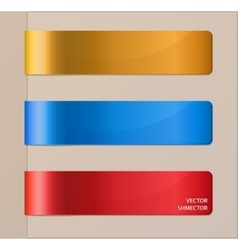 Set of horizontal banners or bookmarks vector image vector image