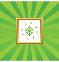 Snow picture icon vector