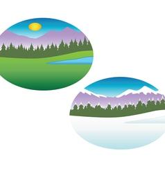 summer winter seasons vector image
