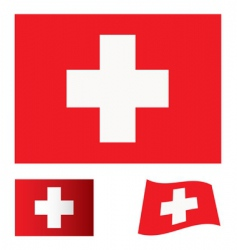 Switzerland flag set vector image vector image