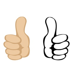Thumbs up gesture vector