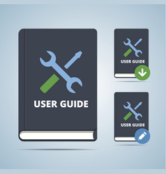 User guide manual book vector
