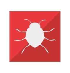 Virus infection bug icon vector