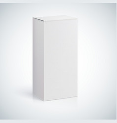 White blank box with empty space vector image vector image