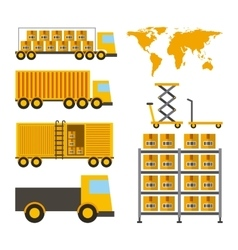 Import and export design vector