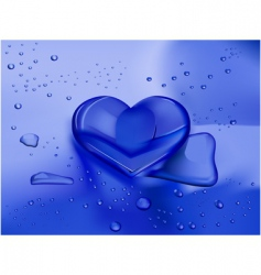 heart droplet vector image