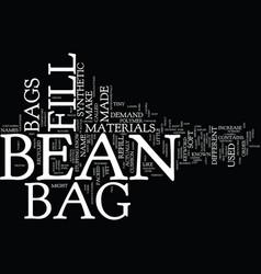 Bean bag furniture text background word cloud vector