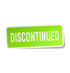 Discontinued square sticker on white vector