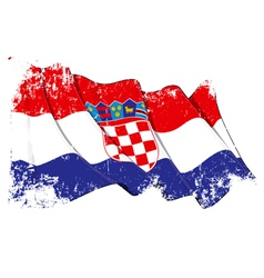 Croatia flag grunge vector