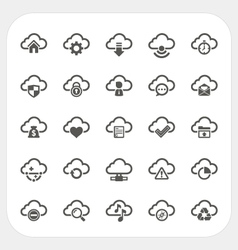 Cloud icons set vector image
