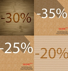 35 25 20 icon set of percent discount on abstract vector