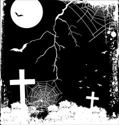 Scary night vector