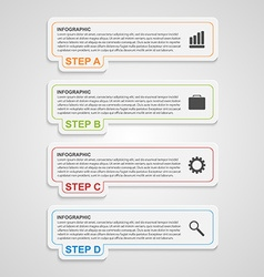 Modern paper infographic options banner design vector