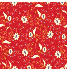 Bright seamless pattern with flowers vector