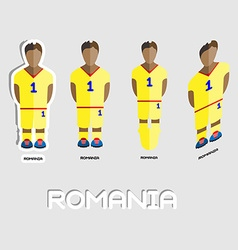 Romania soccer team sportswear template vector