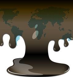 blackening oil vector image