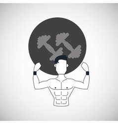 Gym icon design vector