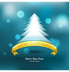 Modern xmas tree background eps 10 vector