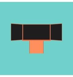 flat icon on stylish background education vector image