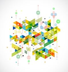 Abstract colorful and creative geometric template vector