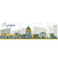 Abstract Olympia Washington Skyline vector image vector image