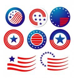 American patriotic symbols vector