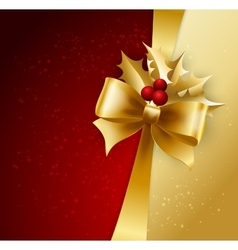 Background with christmas baubles and snowflakes vector