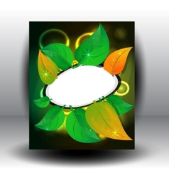 banner petal vector image vector image