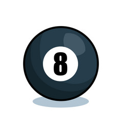 Billiard balls isolated icon vector