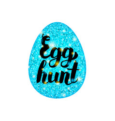 blue egg hunt greeting vector image vector image