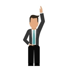 Businessman faceless icon image vector