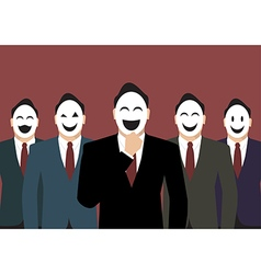Businessmans wearing a various mask vector