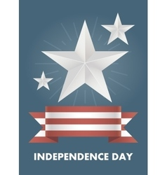 Card with independence day of america vector