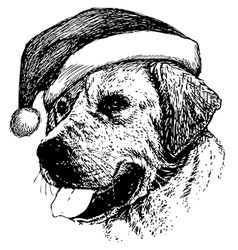 Christmas labrador retriever dog vector