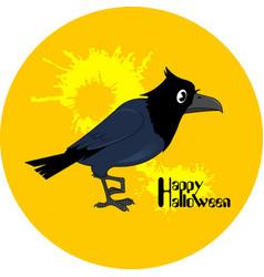 Crow halloween vector