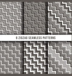 Diagonal zigzag line seamless pinstripe vector