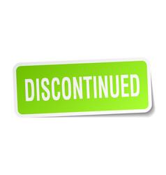 Discontinued square sticker on white vector