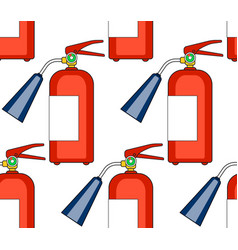 Fire extinguisher pattern vector