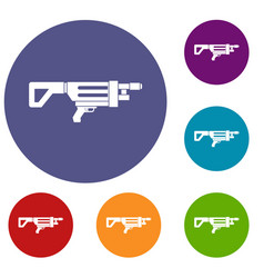 Game gun icons set vector