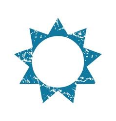 Grunge sun icon vector