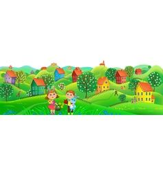 Horizont Easter banner vector image