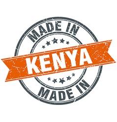 Kenya orange grunge ribbon stamp on white vector